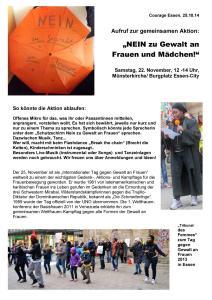 """Letzte Tanzprobe """"Brecht die Ketten"""" für 22.11.: Donnerstag, 18-19 Uhr im Couragezentrum!"""