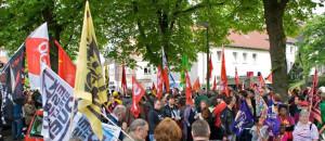 1. Mai 14 Demo Flüchtlinge willkommen