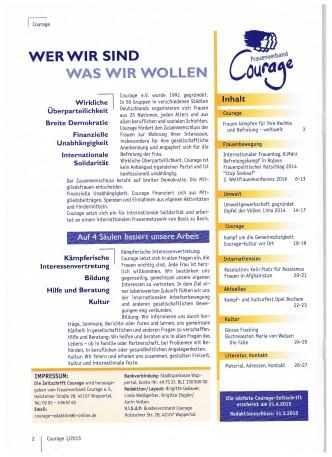 Inhaltsverzeichnis Couragezeitung 1-15 001