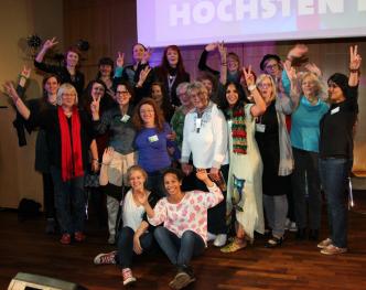 Gruppenfoto: Der neue kämpferische Frauenrat