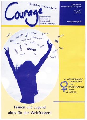 Titelblatt Courage-Zeitung 03/15